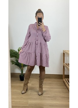 Vestido Pastrana Granate