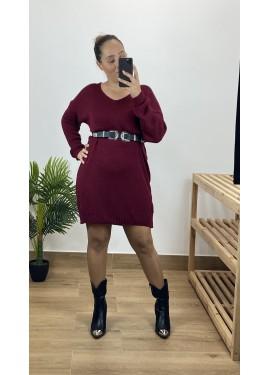 Vestido Consuegra Granate