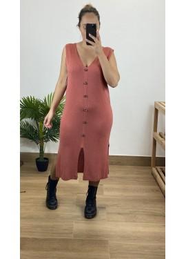 Vestido Arnoia Salmón