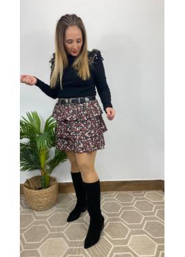 Falda Castellar Flores
