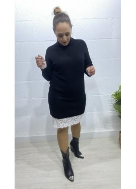 Vestido Bolsillos Negro