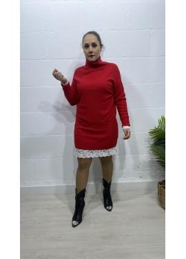 Vestido Bolsillos Rojo