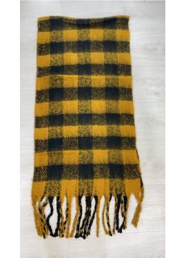 Bufanda Cuadros Amarilla