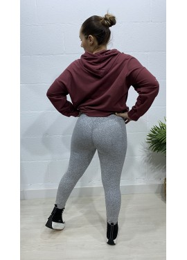 Legging Push Up Gris Claro