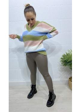 Legging Polipiel Yeste Taupe