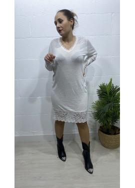 Vestido Puntilla Blanco