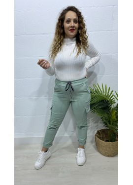 Pantalón Sabrina Verde Agua