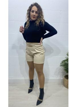 Short Cadena Beige