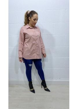 Camisa Strass Rosa