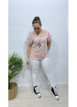 Camiseta Herradura Rosa
