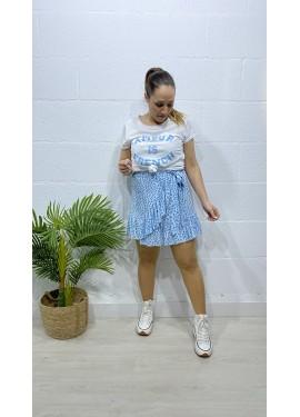 Falda Primavera Azul