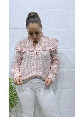 Camisa Volantes Rosa