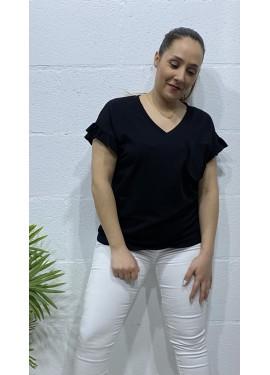 Camiseta Bolsillo Negro