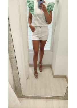 Short Camelias Blanco
