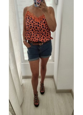 Lencera Leopardo Naranja