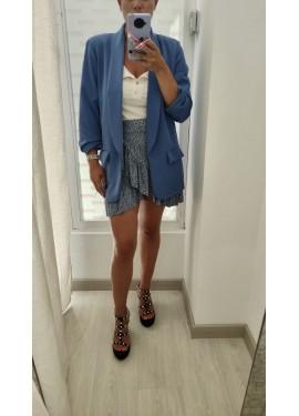 Falda Leopardo Azul