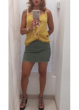 Falda Vaquera Verde