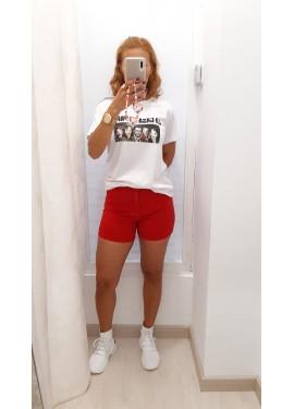 Short Camelias Rojo